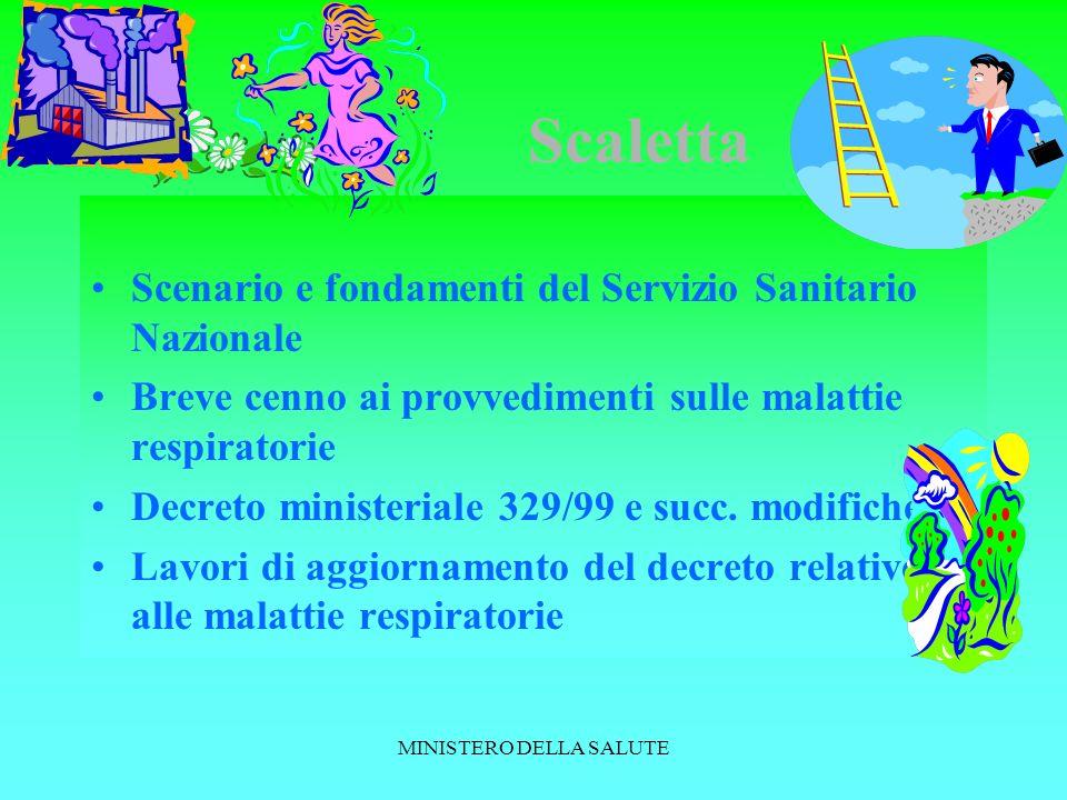 MINISTERO DELLA SALUTE D.P.C.M 29 novembre 2001 recante definizione dei livelli essenziali di assistenza