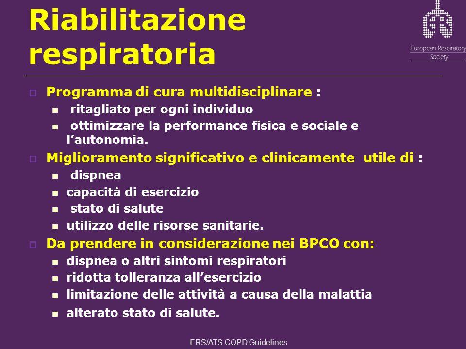 Riabilitazione respiratoria Programma di cura multidisciplinare : ritagliato per ogni individuo ottimizzare la performance fisica e sociale e lautonom