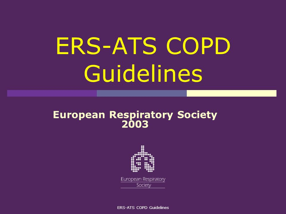 ERS-ATS COPD Guidelines European Respiratory Society 2003