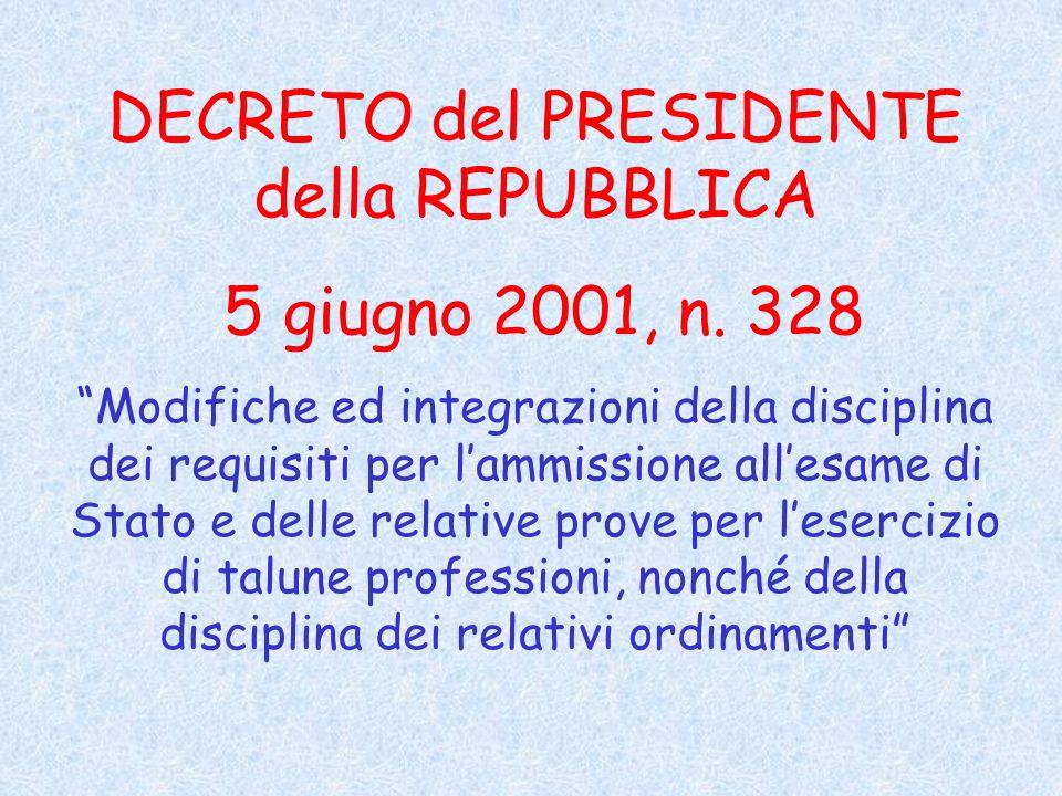 DECRETO del PRESIDENTE della REPUBBLICA 5 giugno 2001, n.
