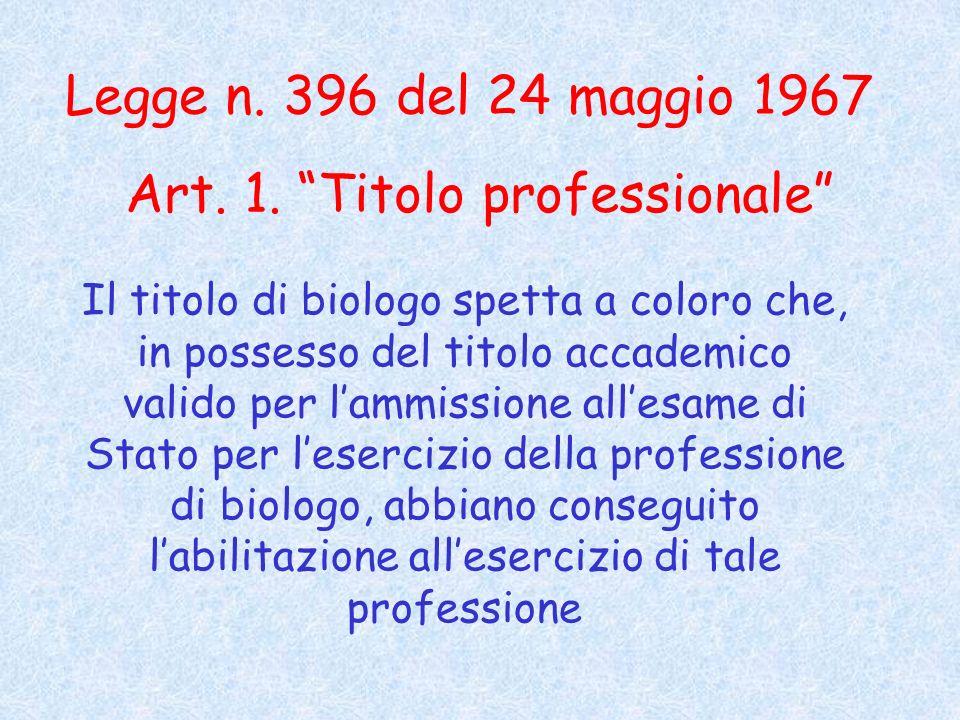 Legge n.396 del 24 maggio 1967 Art. 1.