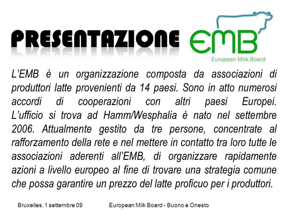 LEMB è un organizzazione composta da associazioni di produttori latte provenienti da 14 paesi.