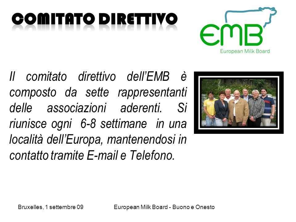 Il comitato direttivo dellEMB è composto da sette rappresentanti delle associazioni aderenti.