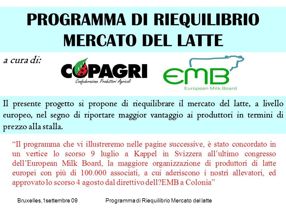 Il presente progetto si propone di riequilibrare il mercato del latte, a livello europeo, nel segno di riportare maggior vantaggio ai produttori in termini di prezzo alla stalla.
