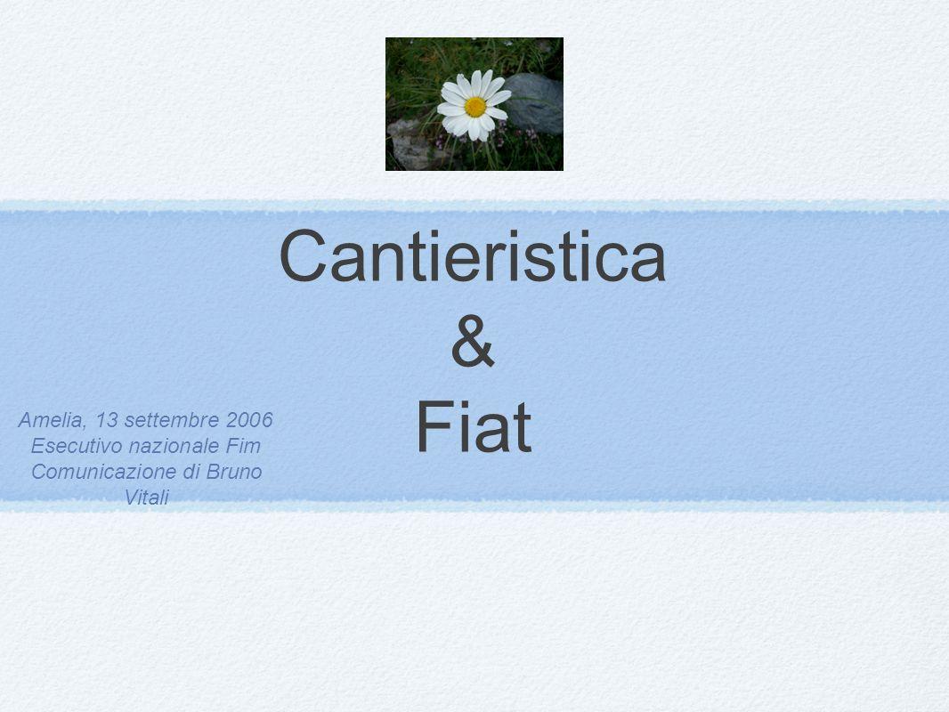 Cantieristica & Fiat Amelia, 13 settembre 2006 Esecutivo nazionale Fim Comunicazione di Bruno Vitali