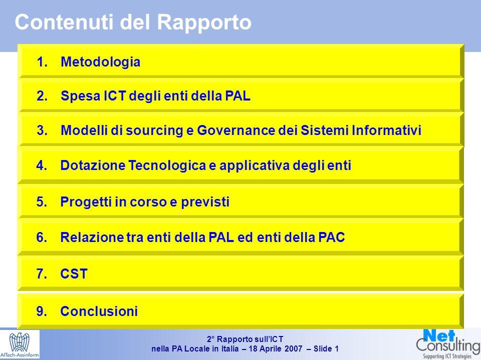 2° Rapporto sullICT nella PA Locale in Italia – 18 Aprile 2007 – Slide 0 2° Rapporto sullICT nella Pubblica Amministrazione Locale in Italia Giancarlo Capitani 18 Aprile 2007