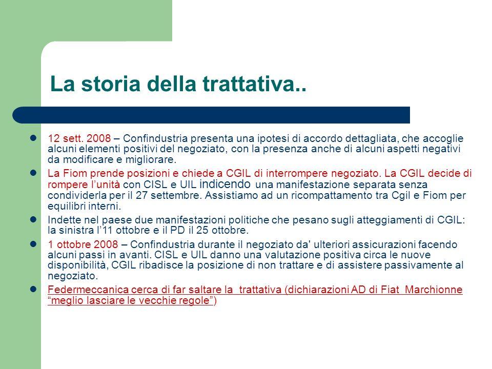 La storia della trattativa.. 12 sett.