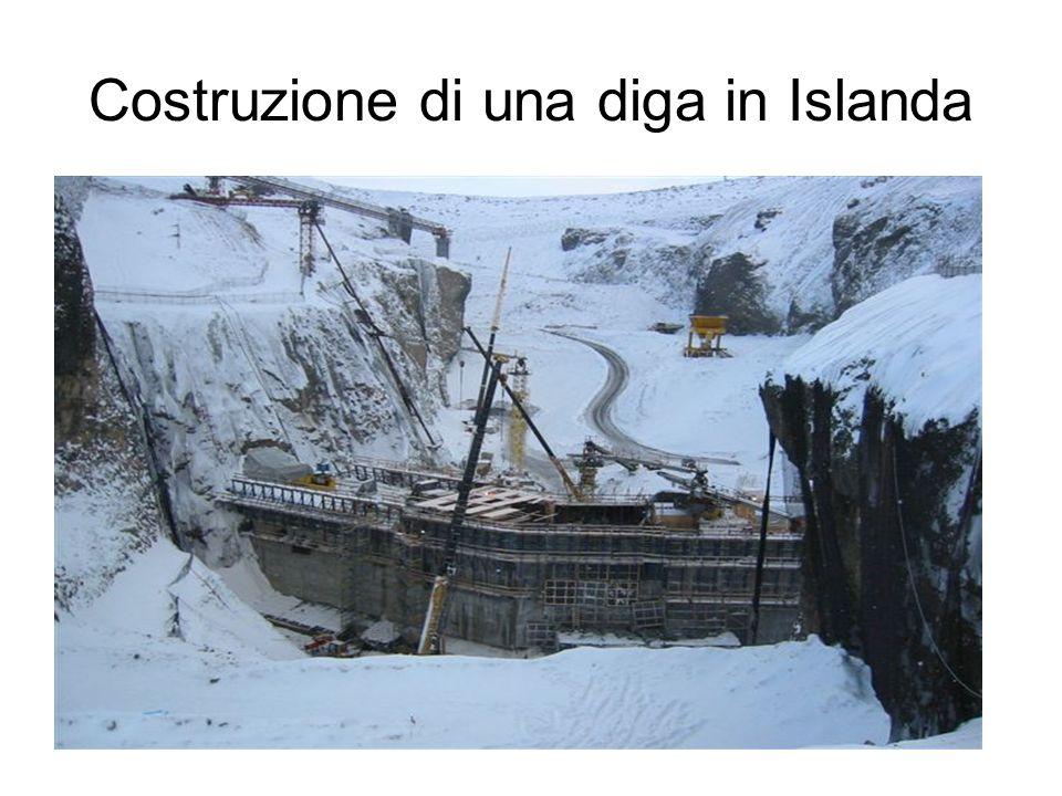 Costruzione di una diga in Islanda