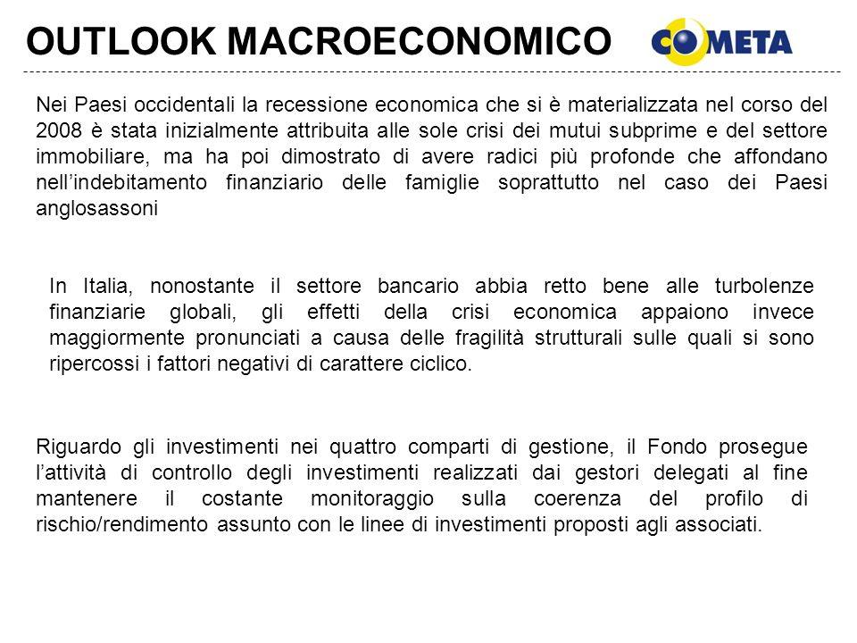OUTLOOK MACROECONOMICO Nei Paesi occidentali la recessione economica che si è materializzata nel corso del 2008 è stata inizialmente attribuita alle s