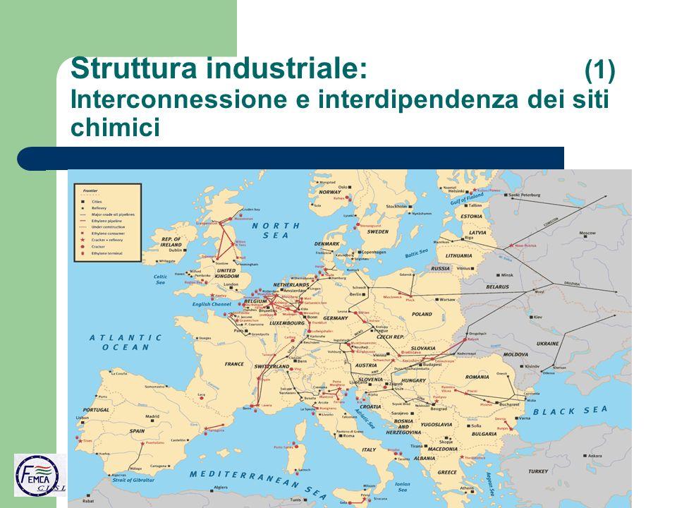 Struttura industriale: (1) Interconnessione e interdipendenza dei siti chimici