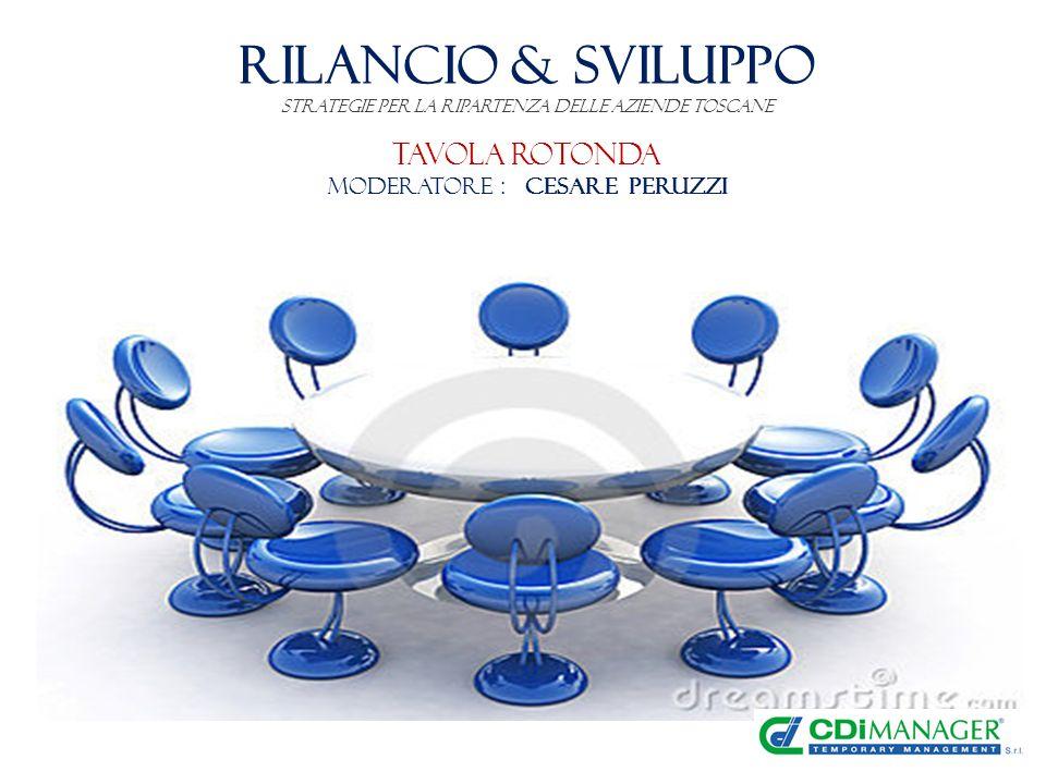 RILANCIO & SVILUPPO Strategie per la ripartenza delle Aziende toscane Tavola Rotonda Moderatore : Cesare Peruzzi
