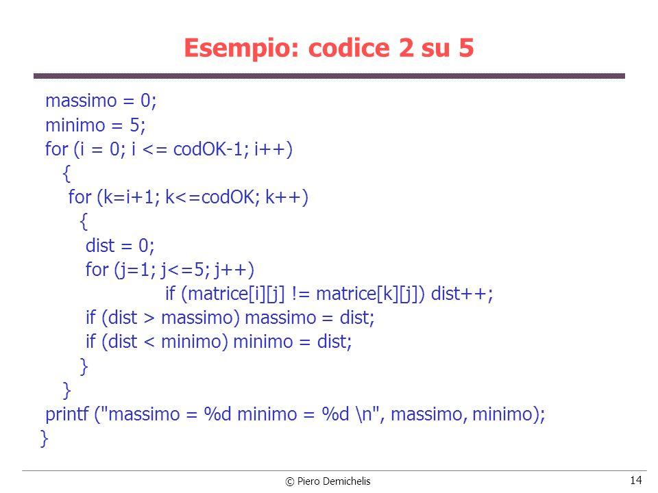 © Piero Demichelis 15 Esempio: punti nel piano In un file, il cui nome va richiesto da tastiera, ci sono le coordinate X e Y di una serie di punti appartenenti a un piano cartesiano.