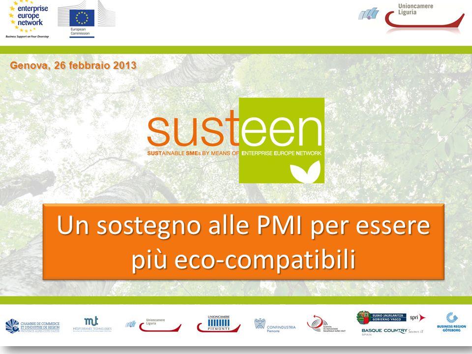 Genova, 26 febbraio 2013 Un sostegno alle PMI per essere più eco-compatibili