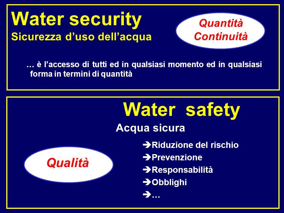 Acqua sicura Water safety Riduzione del rischio Prevenzione Responsabilità Obblighi … … è laccesso di tutti ed in qualsiasi momento ed in qualsiasi fo