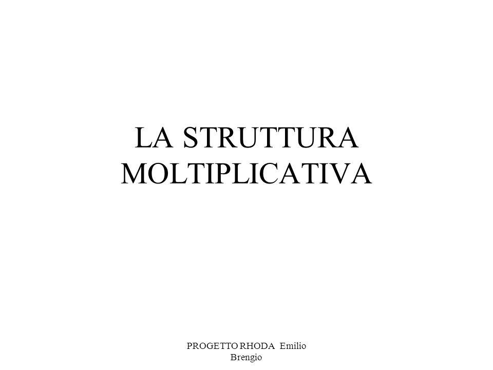PROGETTO RHODA Emilio Brengio LA STRUTTURA MOLTIPLICATIVA