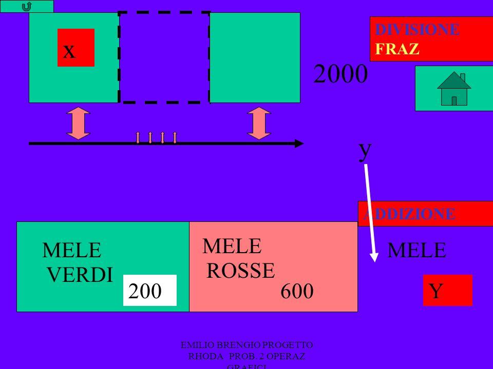 EMILIO BRENGIO PROGETTO RHODA PROB. 2 OPERAZ GRAFICI DIVISIONE FRAZ +ADDIZIONE 2° MODELLO 2 MODELLI