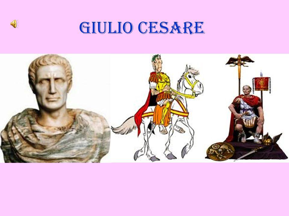 Caio Giulio Cesare nacque a Roma nel 100 a.C.
