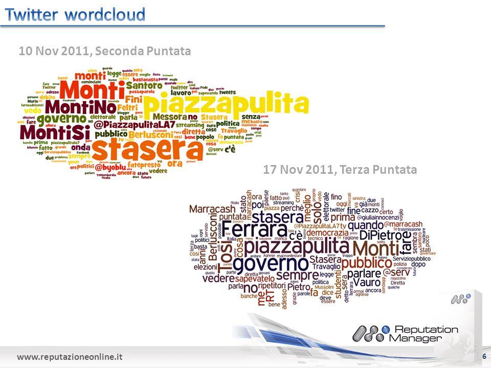 www.reputazioneonline.it 6 10 Nov 2011, Seconda Puntata 17 Nov 2011, Terza Puntata