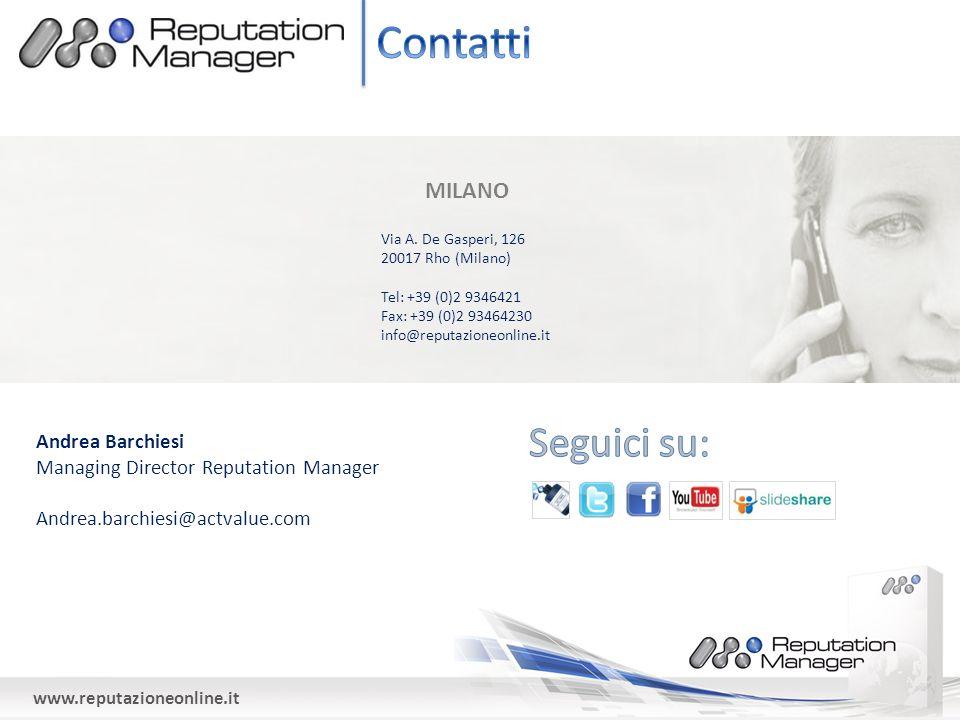 www.reputazioneonline.it MILANO Via A.