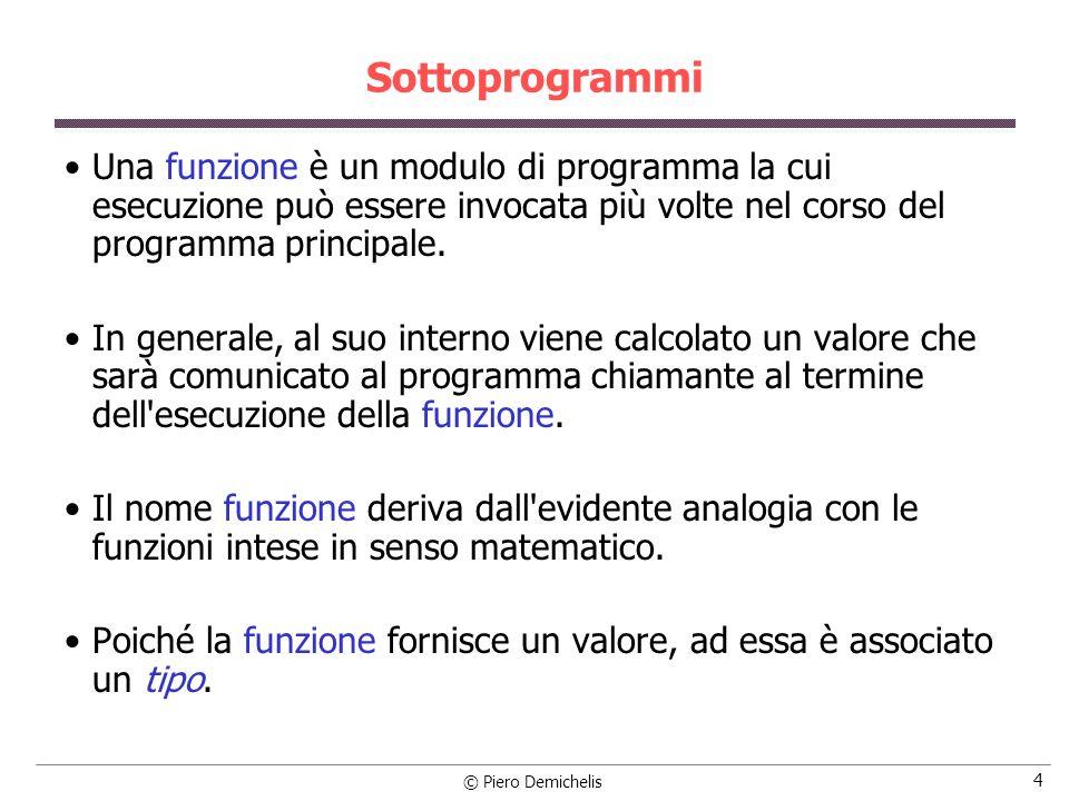 © Piero Demichelis 35 Esercizio Programma che legge da tastiera 20 interi e li salva in un vettore.