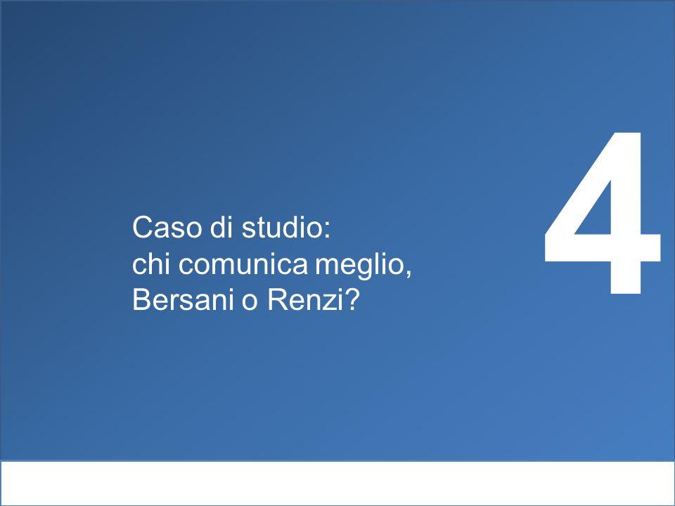 Webintelligence e psicolinguisitca Caso di studio: chi comunica meglio, Bersani o Renzi? 4