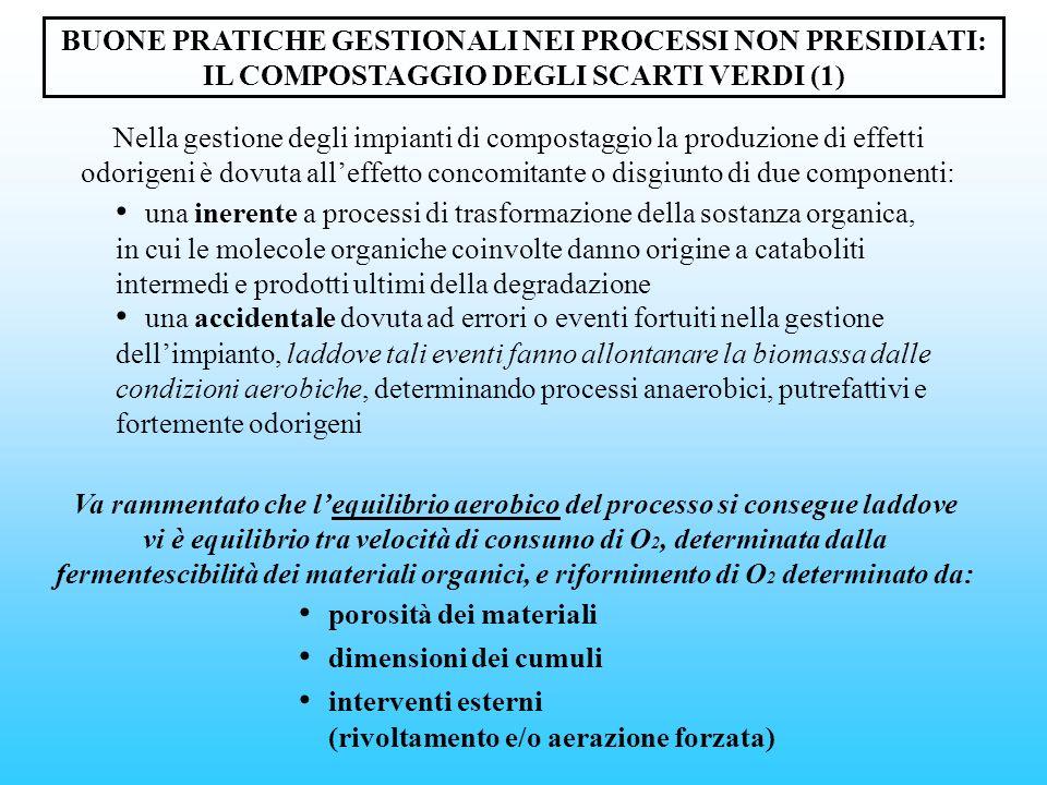 BUONE PRATICHE GESTIONALI NEI PROCESSI NON PRESIDIATI: IL COMPOSTAGGIO DEGLI SCARTI VERDI (1) una inerente a processi di trasformazione della sostanza