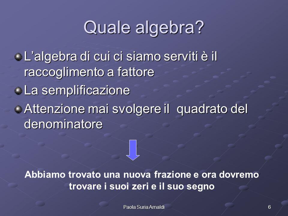6Paola Suria Arnaldi Quale algebra.
