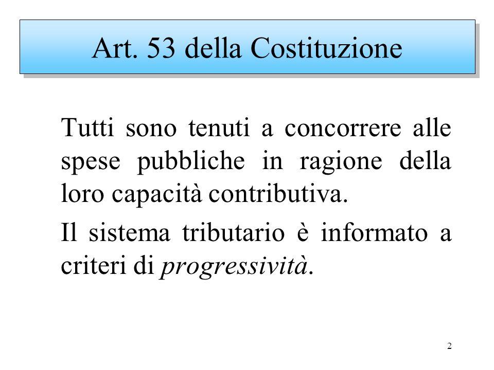 2 Tutti sono tenuti a concorrere alle spese pubbliche in ragione della loro capacità contributiva. Il sistema tributario è informato a criteri di prog