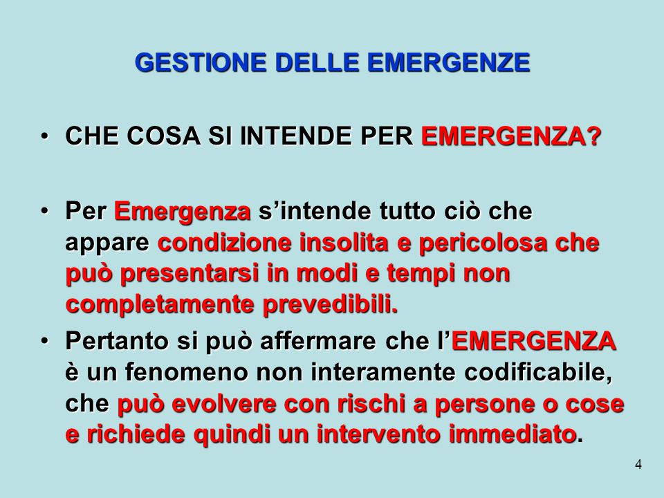 15 6.INDIVIDUARE LE FIGURE che si occupano della gestione delle emergenze; 7.