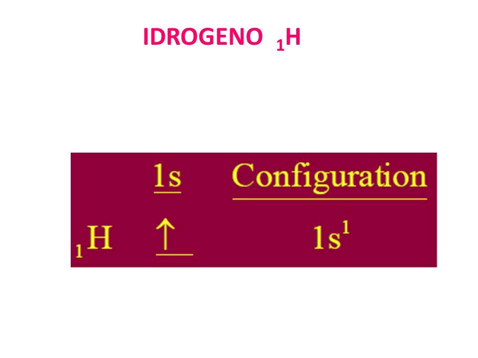 IDROGENO 1 H