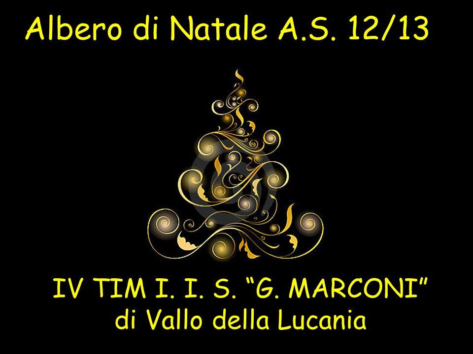 Albero di Natale A.S. 12/13 IV TIM I. I. S. G. MARCONI di Vallo della Lucania