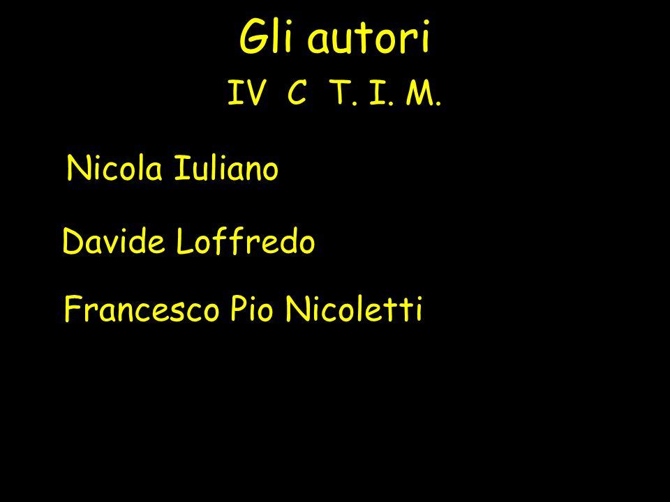 Gli autori Nicola Iuliano IV C T. I. M. Davide Loffredo Francesco Pio Nicoletti
