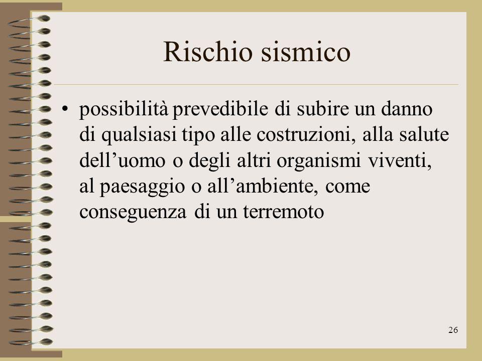 27 Rischio sismico Regioni ad alto rischio sismico sono: Friuli-Venezia Giulia Marche Umbria Abruzzo Campania Basilicata Calabria Sicilia.