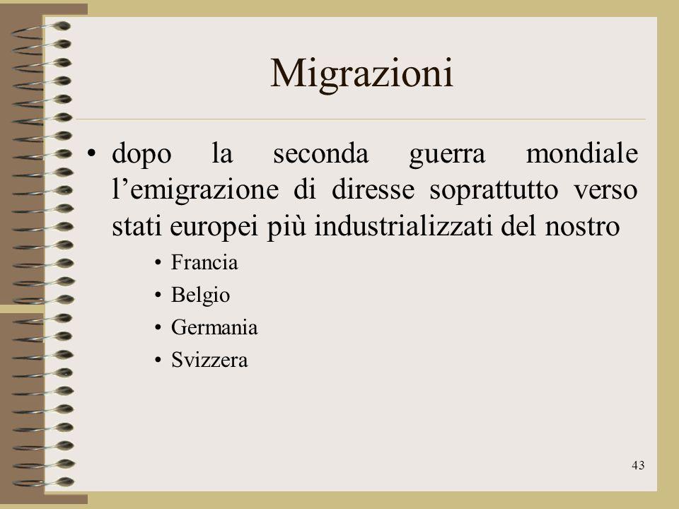 44 Migrazioni Nel corso degli anni milioni di emigranti sono tornati in patria, portando con sé il frutto del loro lavoro, a beneficio dei loro familiari rimasti ad attenderli.