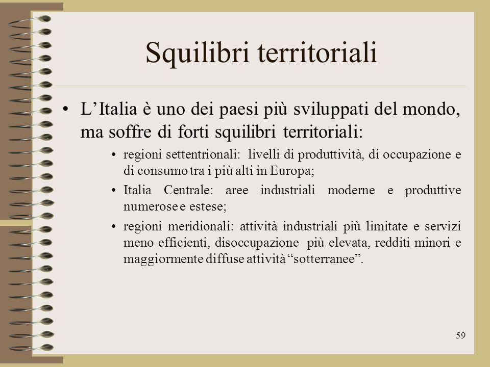 60 Le imprese In Italia prevalgono le medie e piccole imprese, generalmente molto competitive, che contribuiscono allaumento delle esportazioni Oltre il 90% delle aziende italiane ha meno di 10 addetti e occupa circa la metà della manodopera nazionale.