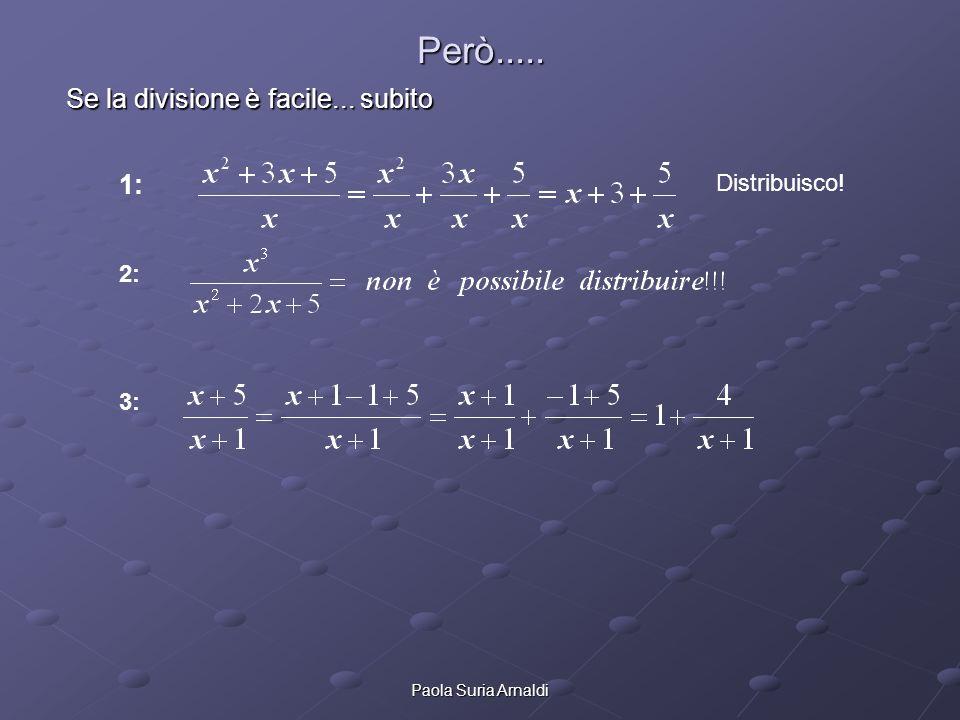 Paola Suria Arnaldi Manipoliamo ancora polinomi: fratti semplici Andiamo avanti...