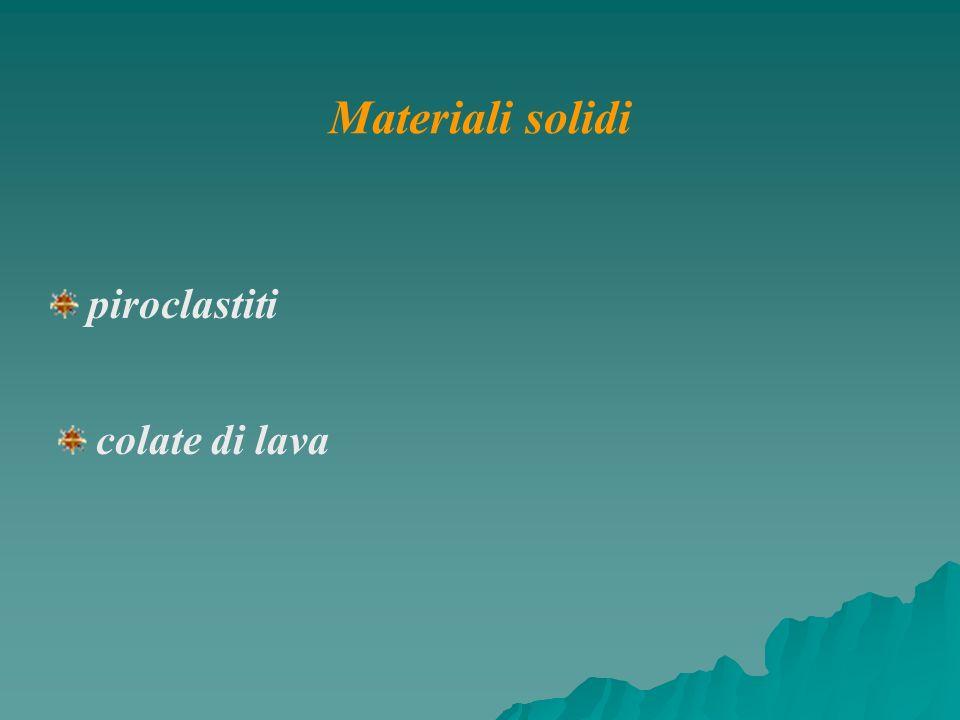 colate di lava piroclastiti Materiali solidi