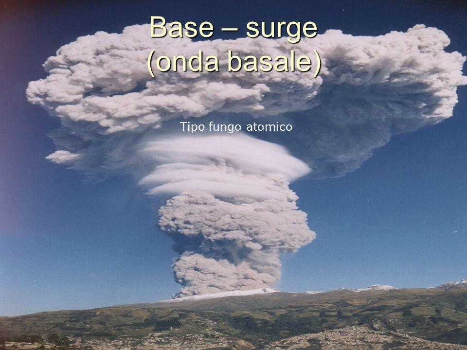 Base – surge (onda basale) Tipo fungo atomico