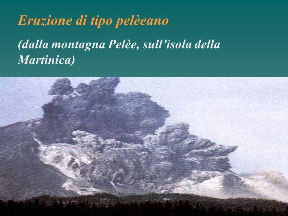 Eruzione di tipo pelèeano (dalla montagna Pelèe, sullisola della Martinica)