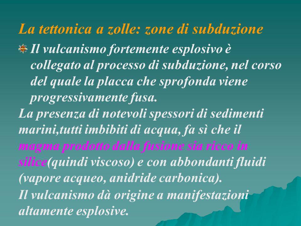 Il vulcanismo fortemente esplosivo è collegato al processo di subduzione, nel corso del quale la placca che sprofonda viene progressivamente fusa. La