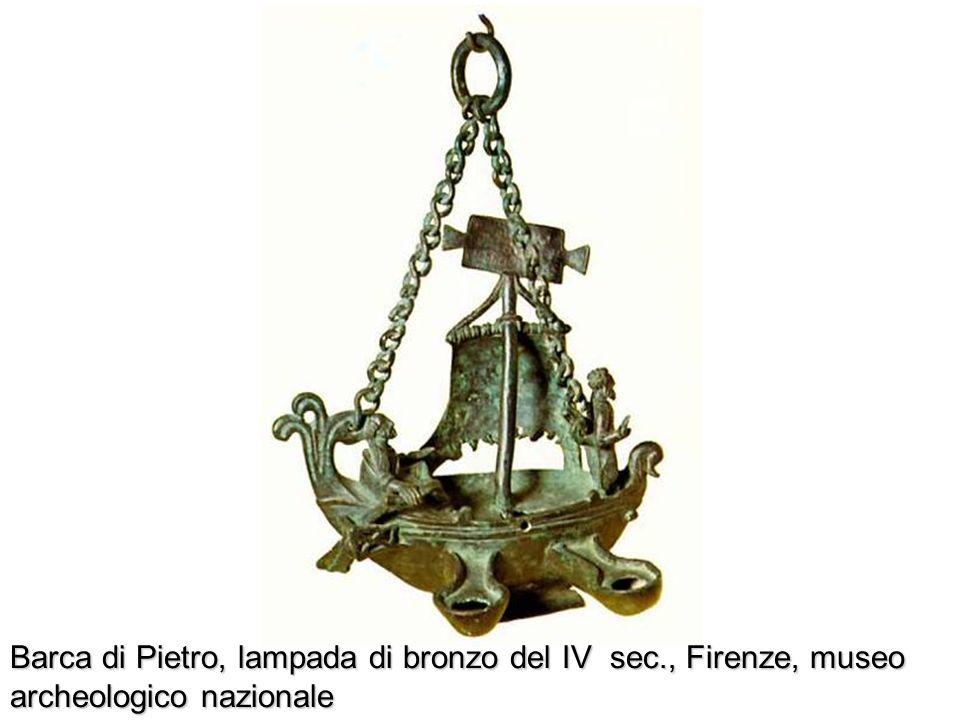 Barca di Pietro, lampada di bronzo del IV sec., Firenze, museo archeologico nazionale