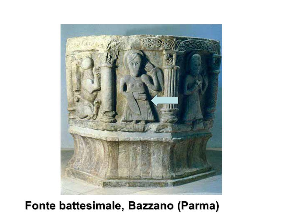 Fonte battesimale, Bazzano (Parma)