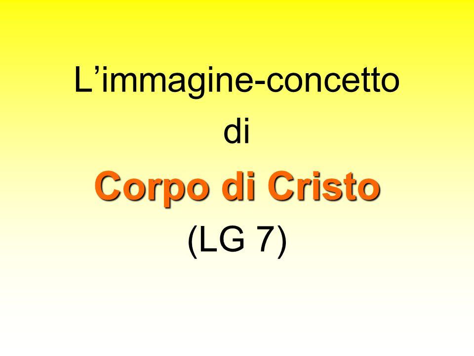 Limmagine-concetto di Corpo di Cristo (LG 7)