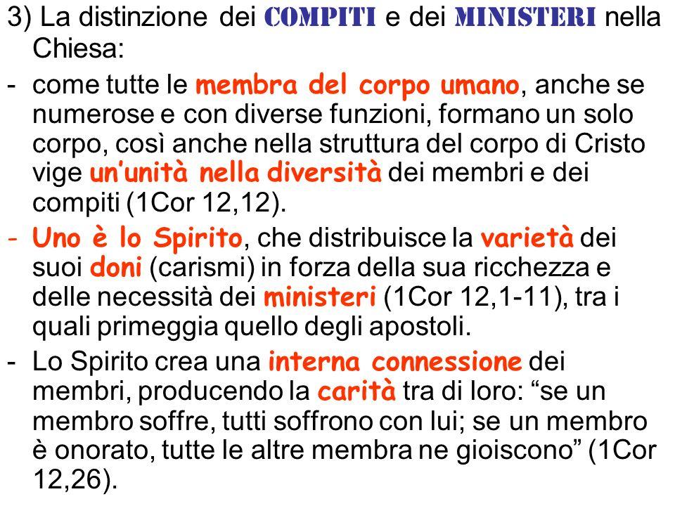 4) La necessità di conformarsi a Cristo personalmente e come comunità: Lui è il Capo di questo corpo: in lui tutte le cose sono state create.