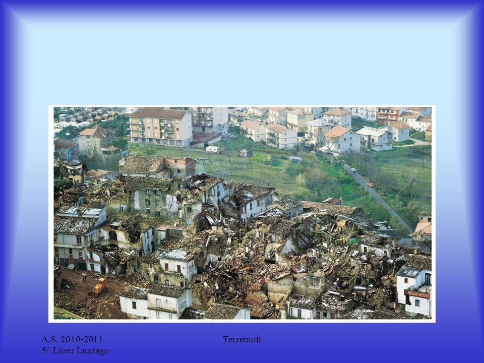 A.S.2010-2011 5^ Liceo Luzzago Terremoti Da cosa dipendono gli effetti dei terremoti.
