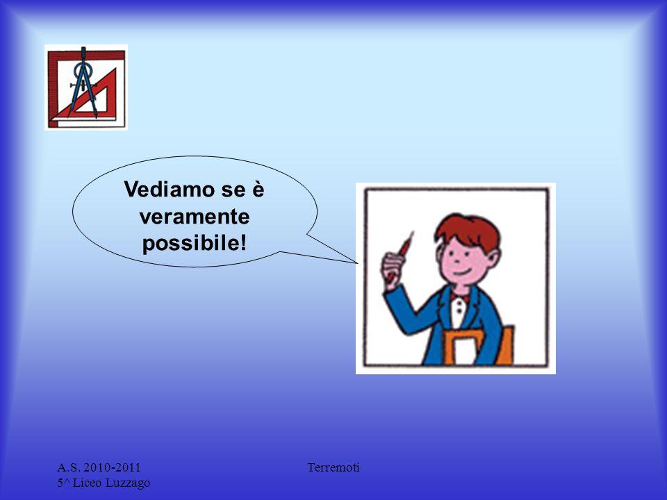 A.S. 2010-2011 5^ Liceo Luzzago Terremoti Vediamo se è veramente possibile!
