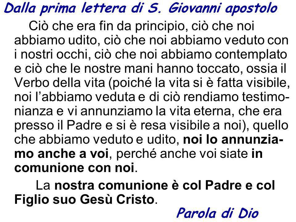 Dalla prima lettera di S.