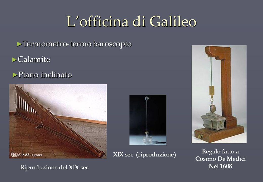 Lofficina di Galileo Riproduzione del XIX sec Regalo fatto a Cosimo De Medici Nel 1608 Calamite Calamite Termometro-termo baroscopio Termometro-termo