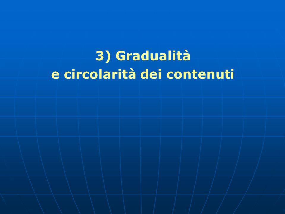 3) Gradualità e circolarità dei contenuti