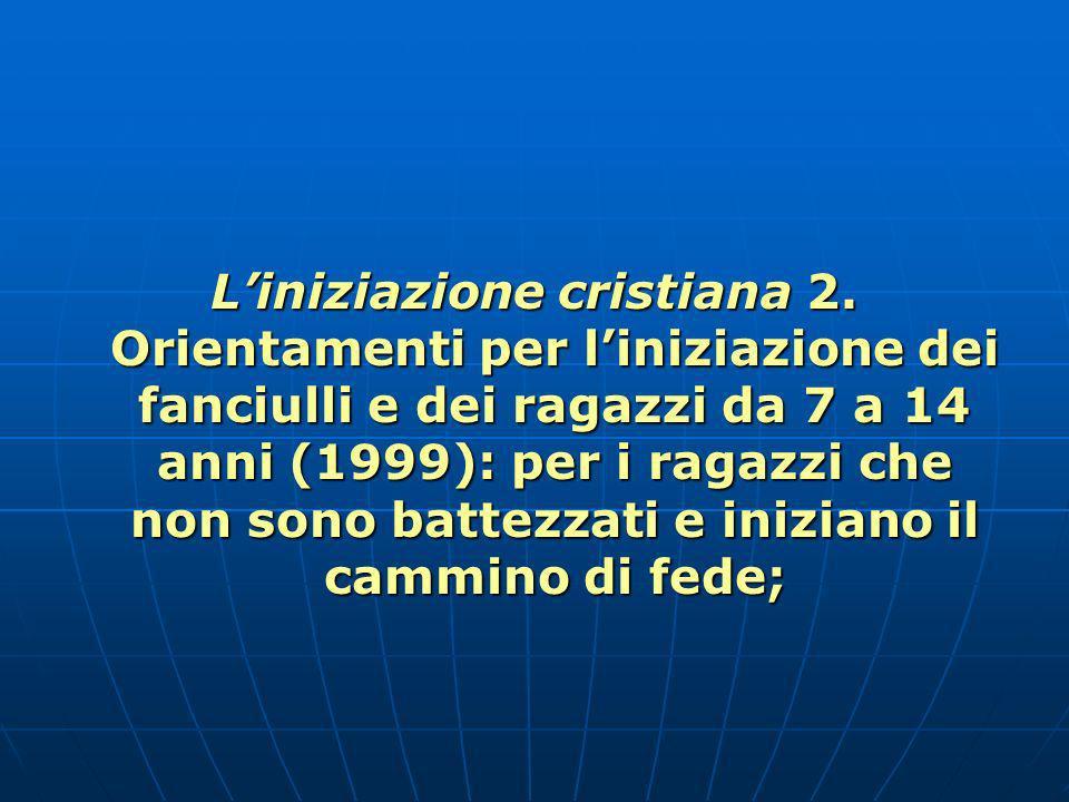 Liniziazione cristiana 2.